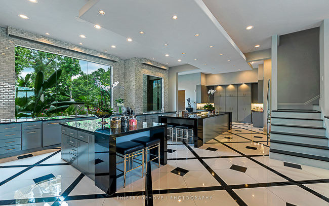 The stunning kitchen