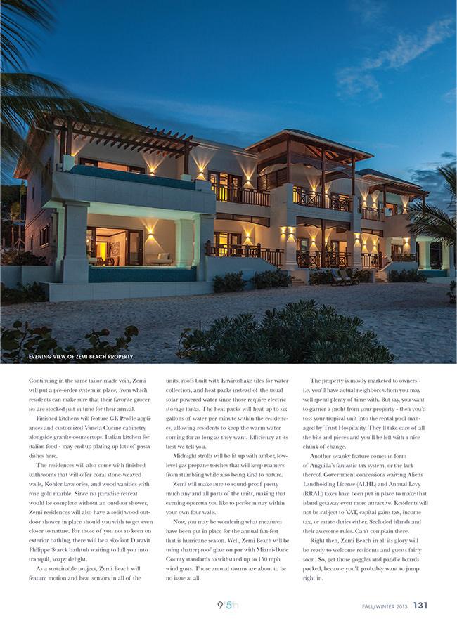 Zemi Beach inside 9fi5th Luxury Real Estate