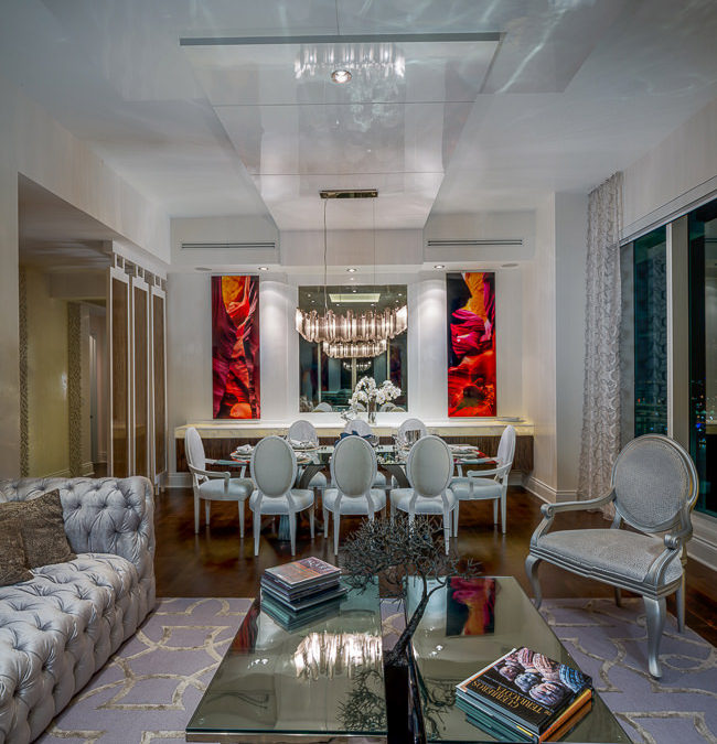 Home Interior Design Decoration in Brickell Key, Miami by Zelman Style Interiors