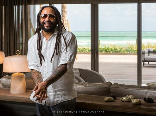 Ky-Mani Marley at Armani/Casa Miami