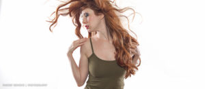 Red hair styles with Krystal Lynn Hedrick