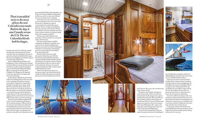 ShowBoat Magazine June with Columbia Gloucester Fishing Schooner