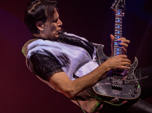 Steve Vai performs at the Parker Playhouse in Fort Lauderdale, Florida