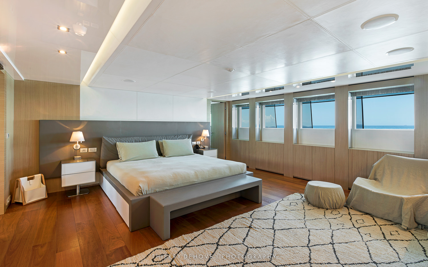 Master Stateroom: Motor Yacht Vicky 194 by Baglietto, Italy