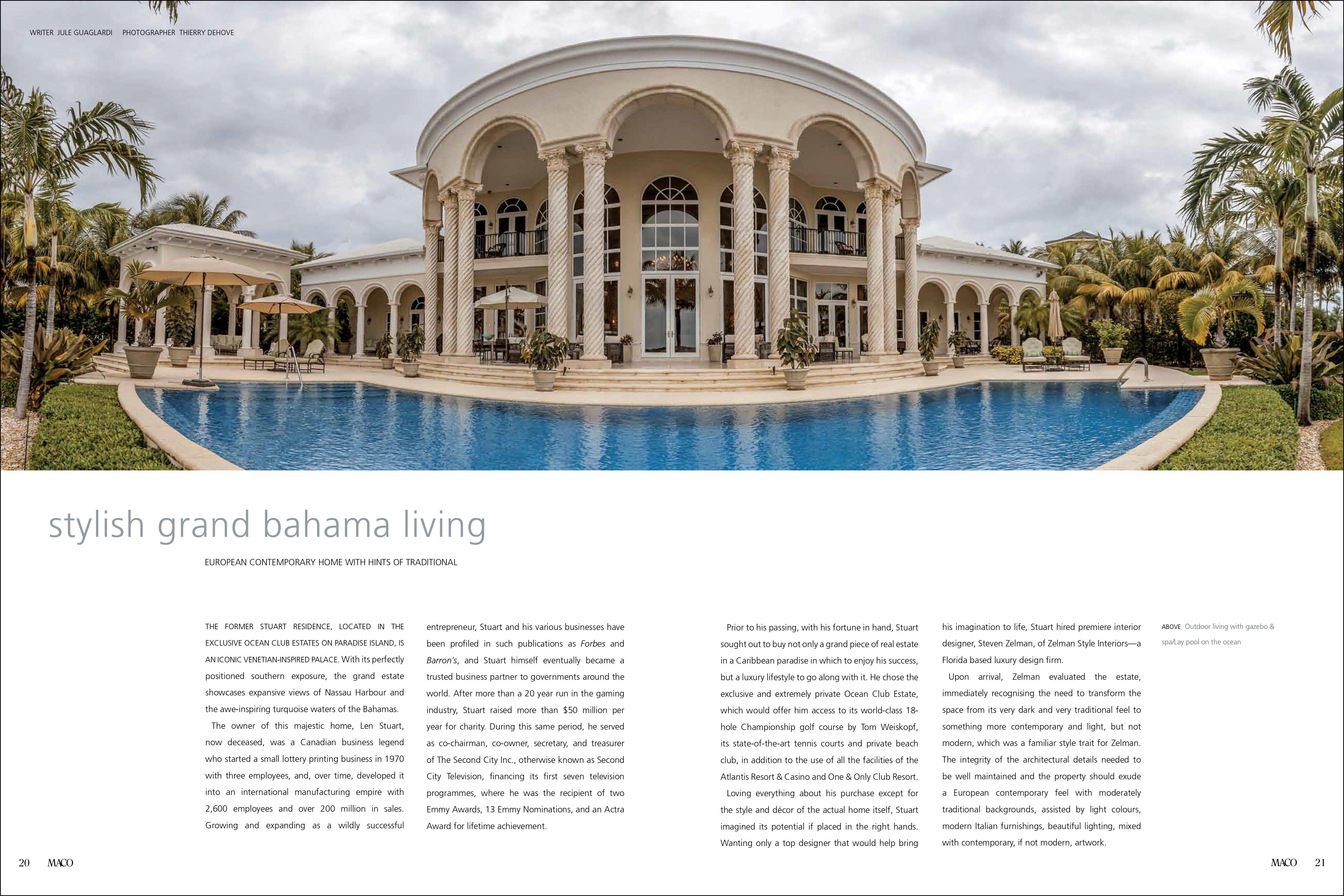 Maco Magazine featured Steven Zelman in Bahamas