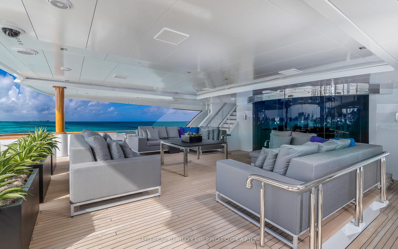 Motor Yacht Trinity Imagine 193' in The Exumas, Bahamas