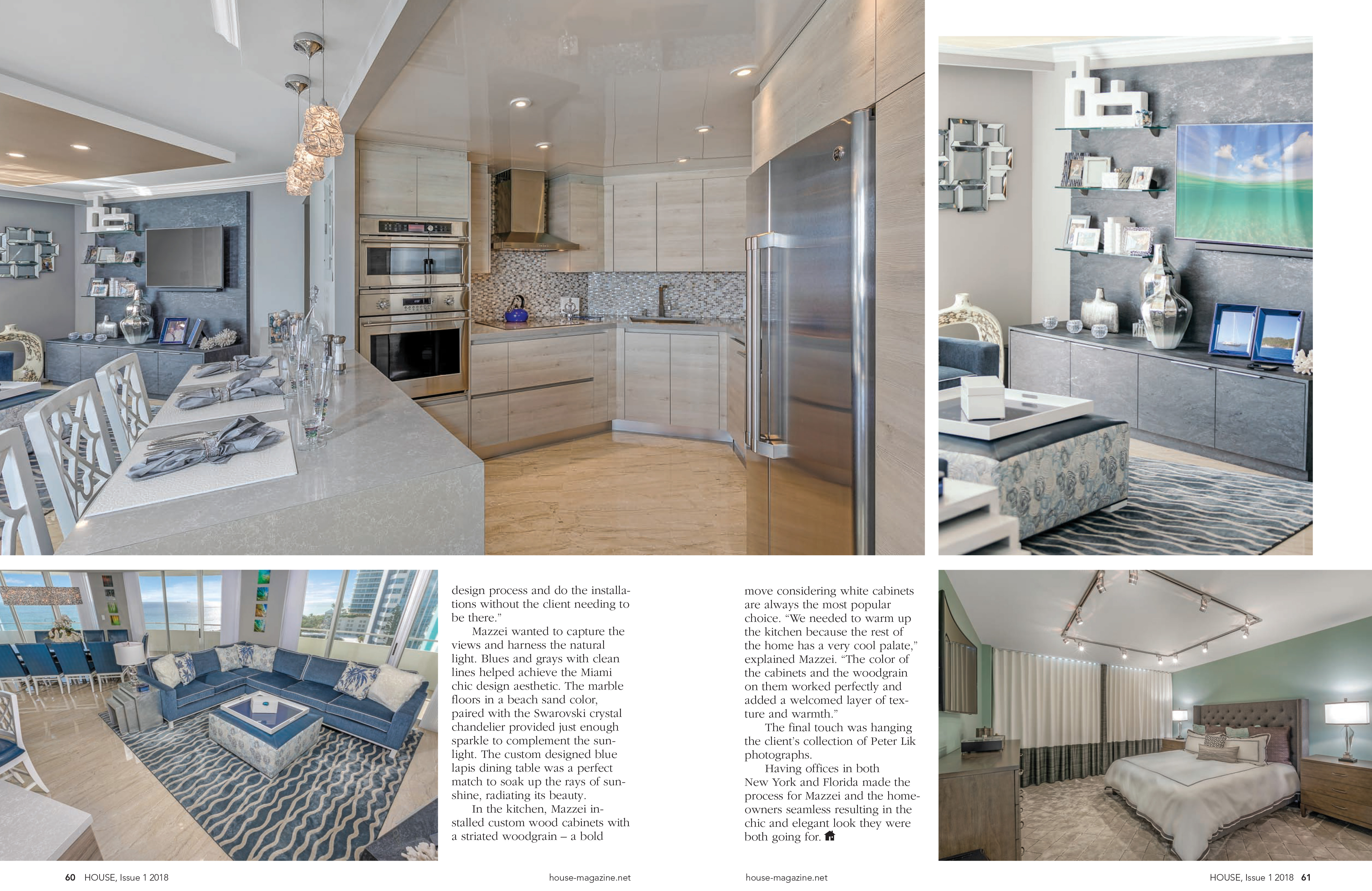Interior Designer Keith Mazzei published into House Magazine