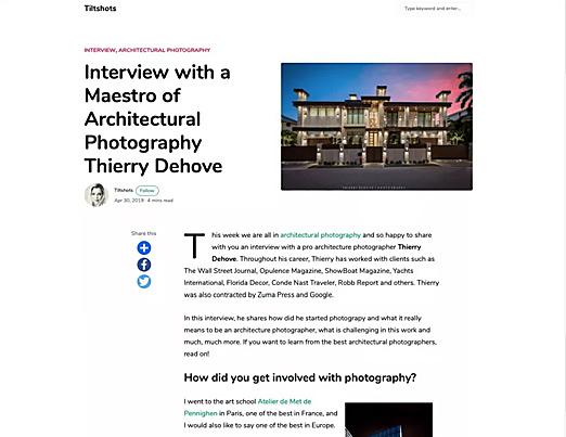 Interview with a maestro of architectural photography by Tiltshots